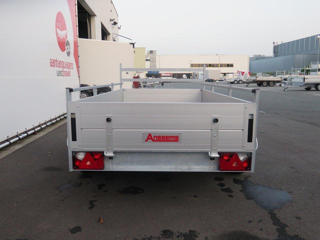 Anssems tandemas aanhanger 251x130cm 2500kg Aanhangwagens XXL West Brabant 2.0 achter dicht Aanhangwagens XXL West Brabant