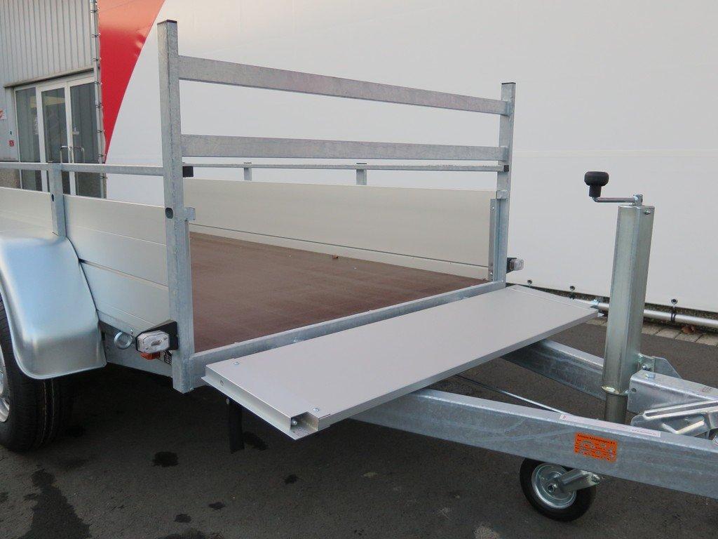 Anssems tandemas aanhanger 251x130cm 2500kg Aanhangwagens XXL West Brabant 2.0 voorbord open Aanhangwagens XXL West Brabant