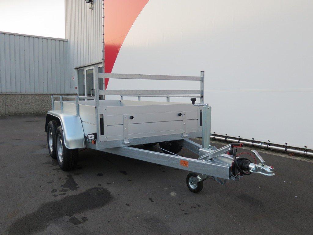 Anssems tandemas aanhanger 251x130cm 2500kg Aanhangwagens XXL West Brabant 2.0 voorkant Aanhangwagens XXL West Brabant