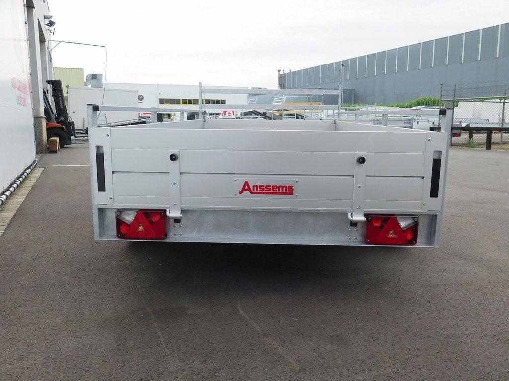 Anssems tandemas aanhanger 301x150cm 2500kg alu Aanhangwagens XXL West Brabant 2.0 achter dicht Aanhangwagens XXL West Brabant