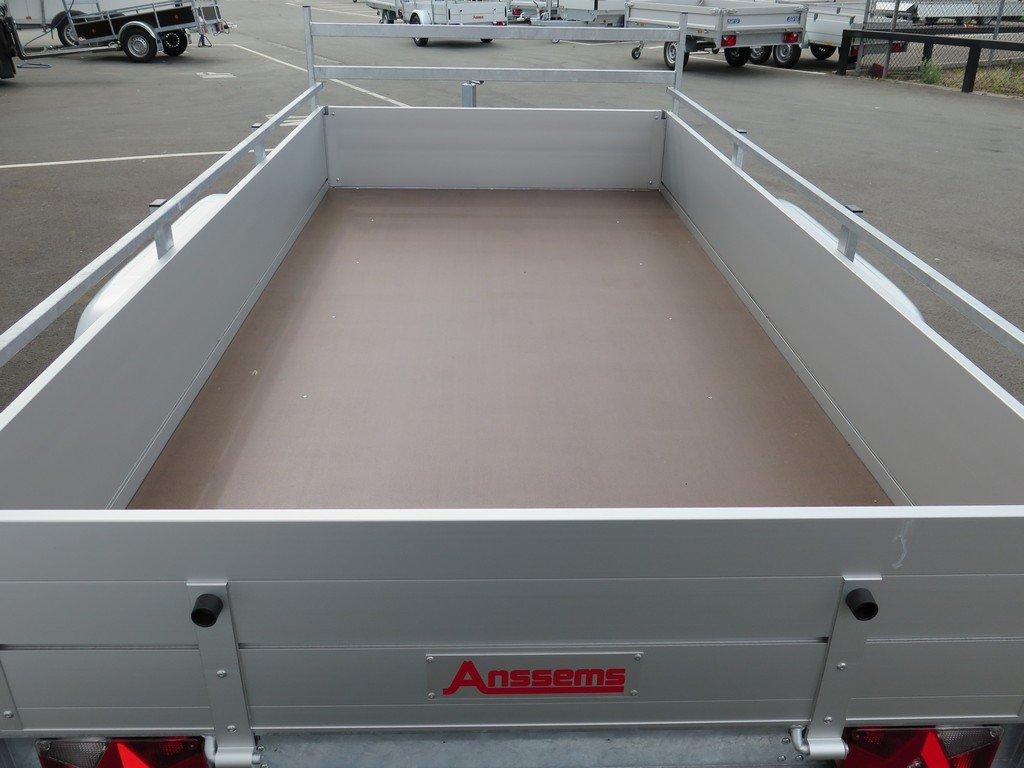 Anssems tandemas aanhanger 301x150cm 2500kg alu Aanhangwagens XXL West Brabant 2.0 bak Aanhangwagens XXL West Brabant