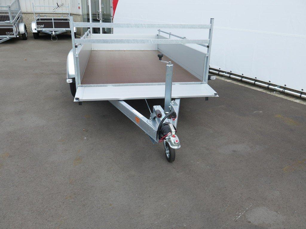 Anssems tandemas aanhanger 301x150cm 2500kg alu Aanhangwagens XXL West Brabant 2.0 voorbord open Aanhangwagens XXL West Brabant