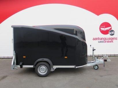 Easyline gesloten aanhanger 300x151x170cm 1300kg zwart Aanhangwagens XXL West Brabant 4.0 hoofd