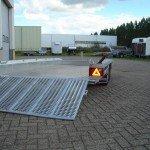 Hulco machinetransporter 394x180cm 3000kg Aanhangwagens XXL West Brabant oprijplaat Aanhangwagens XXL West Brabant
