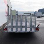 Hulco machinetransporter 394x180cm 3500kg Aanhangwagens XXL West Brabant 2.0 achter dicht