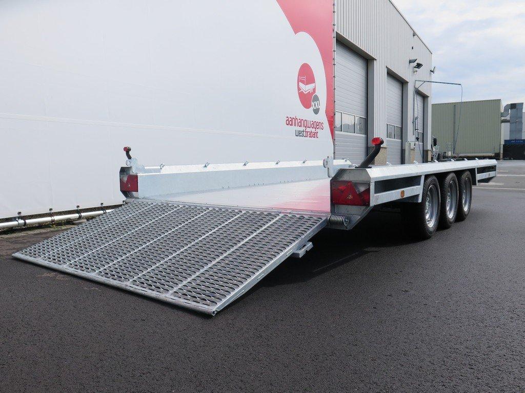Hulco machinetransporter 394x180cm 3500kg Aanhangwagens XXL West Brabant 2.0 oprijklep