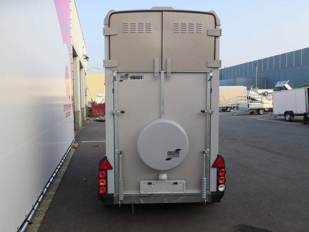 Ifor Williams HB403 1,5 paards paardentrailer Aanhangwagens XXL West Brabant 2.0 achterkant dicht Aanhangwagens XXL West Brabant