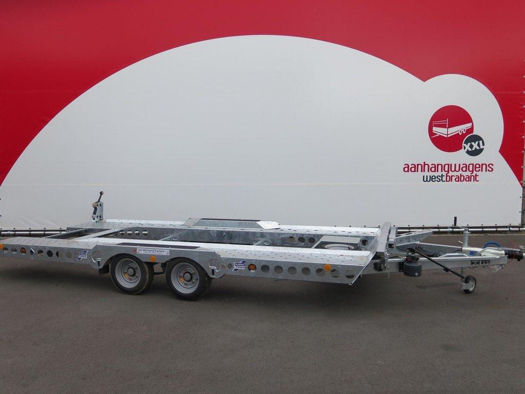 Ifor Williams autotransporter 510x230cm 3500kg Aanhangwagens XXL West Brabant 2.0 zijkant Aanhangwagens XXL West Brabant