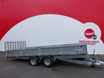 Ifor Williams machinetransporter 477x225cm 3500kg kantelbaar Aanhangwagens XXL West Brabant 2.0 hoofd