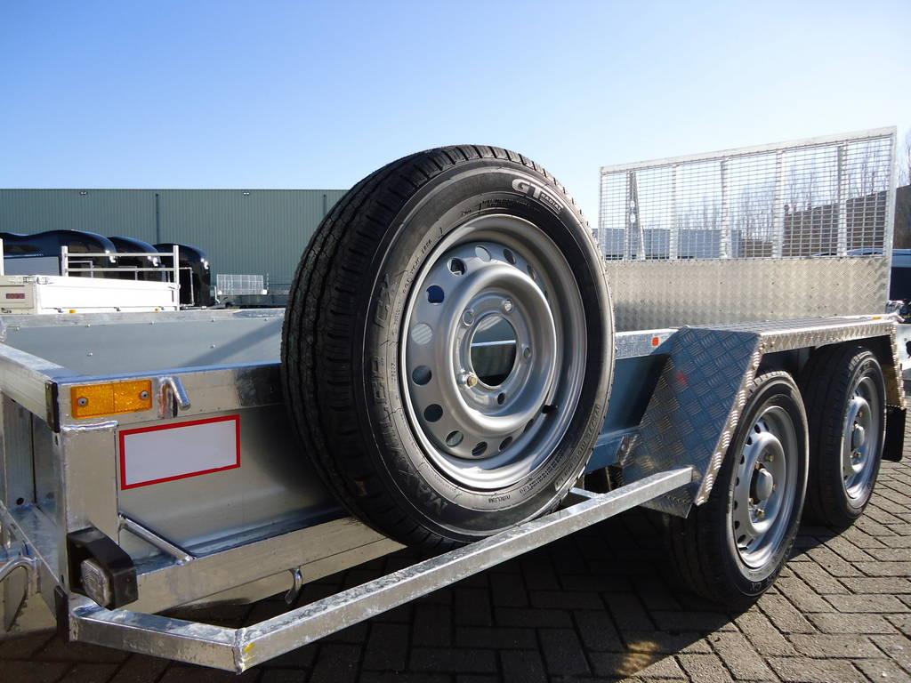Ifor Williams transporter 366x178cm 3500kg machinetransporter Aanhangwagens XXL West Brabant tandemas