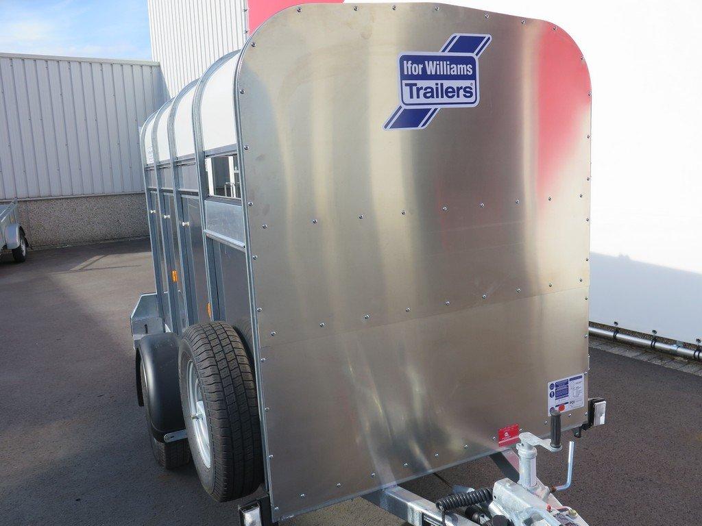 Ifor Williams veetrailer 244x121x153cm 1400kg Ifor Williams veetrailer 244x121x153cm 1400kg Aanhangwagens XXL West Brabant 2.0 zijkant