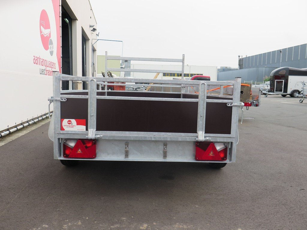 Loady tandemas aanhanger 254x130cm 750kg Aanhangwagens XXL West Brabant 2.0 achter dicht Aanhangwagens XXL West Brabant
