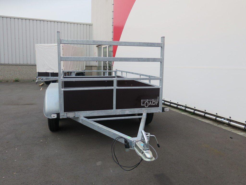 Loady tandemas aanhanger 254x130cm 750kg Aanhangwagens XXL West Brabant 2.0 voorkant Aanhangwagens XXL West Brabant