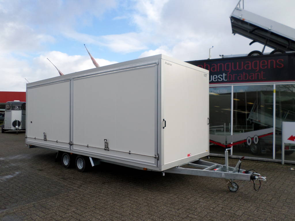 Proline gesloten 606x204x210cm 3000kg gesloten aanhangwagens Aanhangwagens XXL West Brabant hoofd Aanhangwagens XXL West Brabant