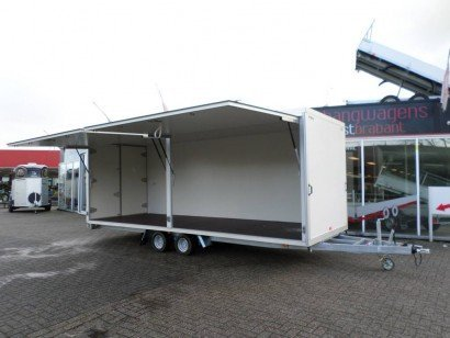 Proline gesloten 606x204x210cm 3000kg gesloten aanhangwagens Aanhangwagens XXL West Brabant speciaalbouw Aanhangwagens XXL West Brabant