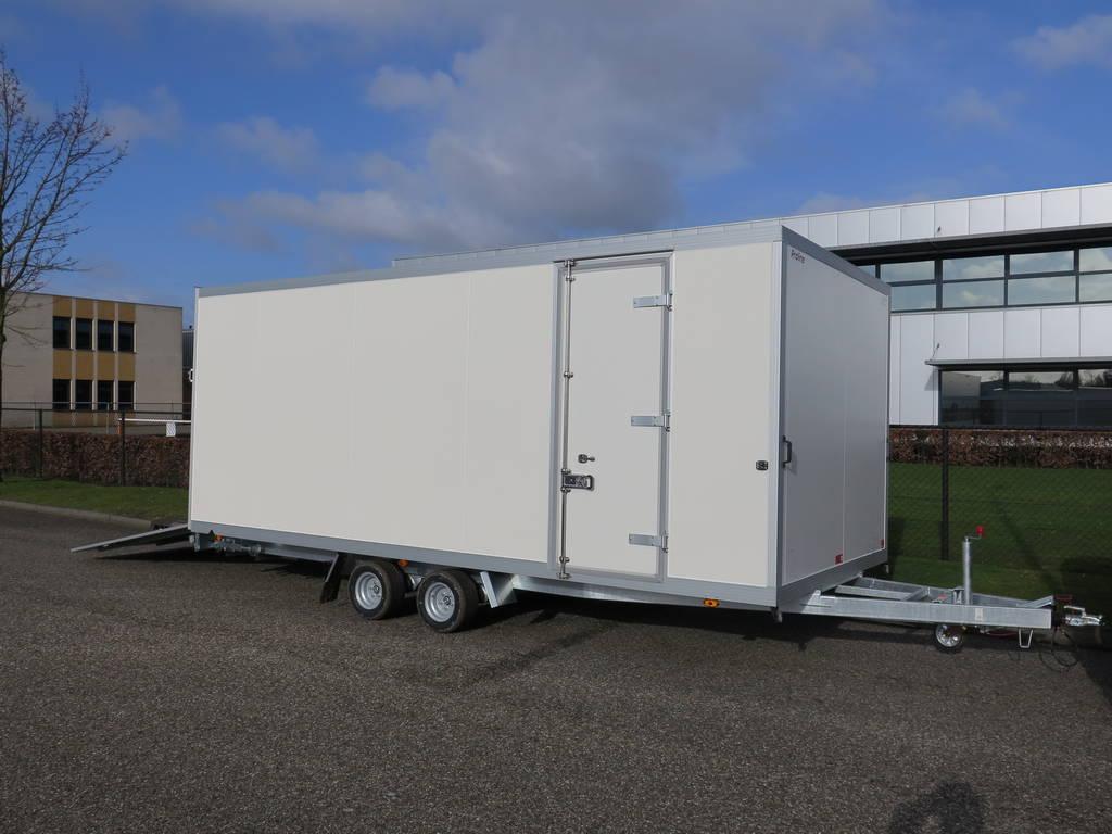 Proline gesloten 606x204x210cm 3000kg gesloten aanhangwagens Aanhangwagens XXL West Brabant zijdeur Aanhangwagens XXL West Brabant