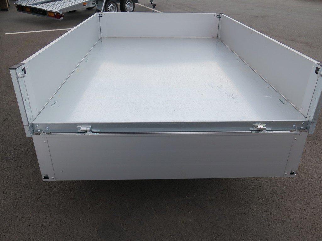 Proline kipper 230x150cm 1500kg Aanhangwagens XXL West Brabant 2.0 achterkant vlak open Aanhangwagens XXL West Brabant