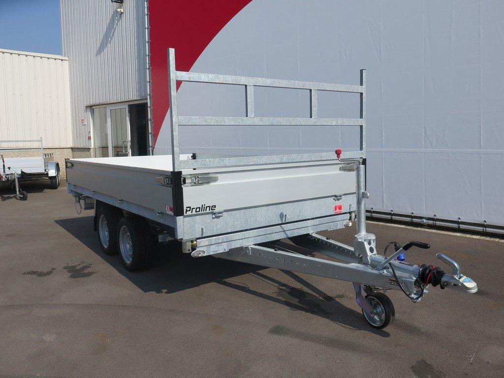 Proline kipper 331x185cm 2700kg Aanhangwagens XXL West Brabant voorkant Aanhangwagens XXL West Brabant