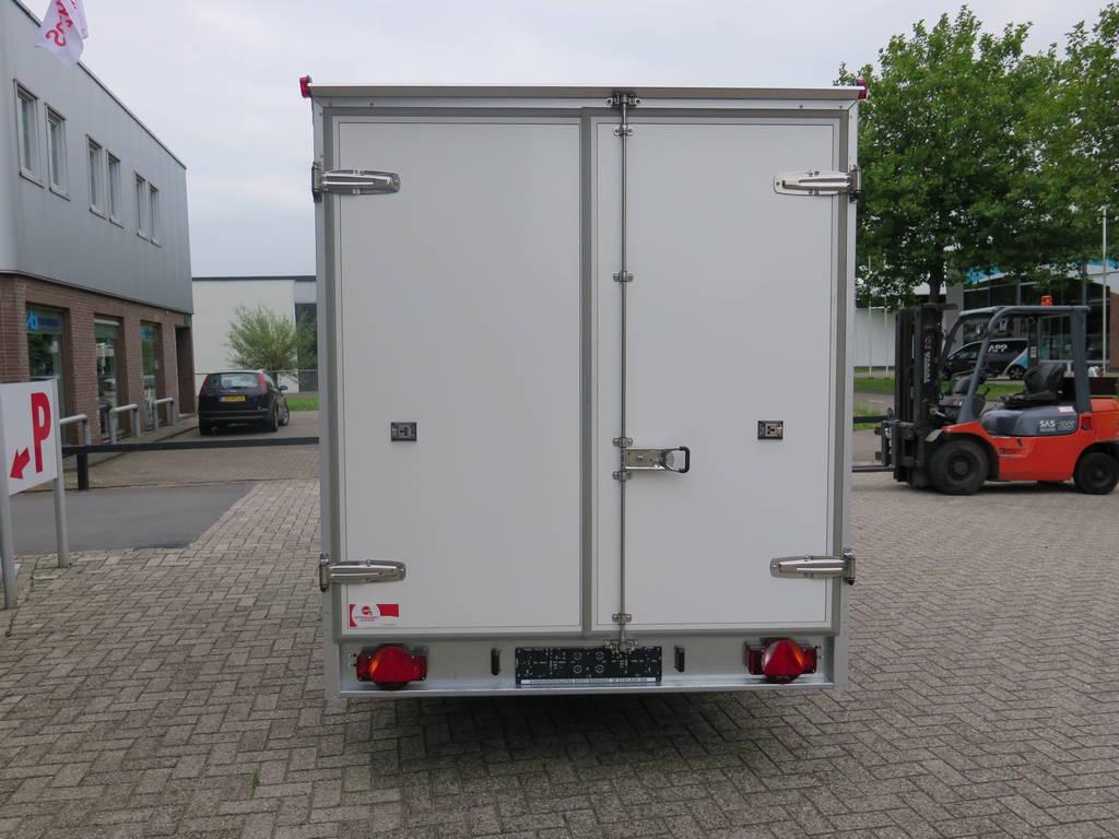 Proline koelaanhanger 400x175x180cm koelaanhangwagens Aanhangwagens XXL West Brabant achterkant 2.0 Aanhangwagens XXL West Brabant