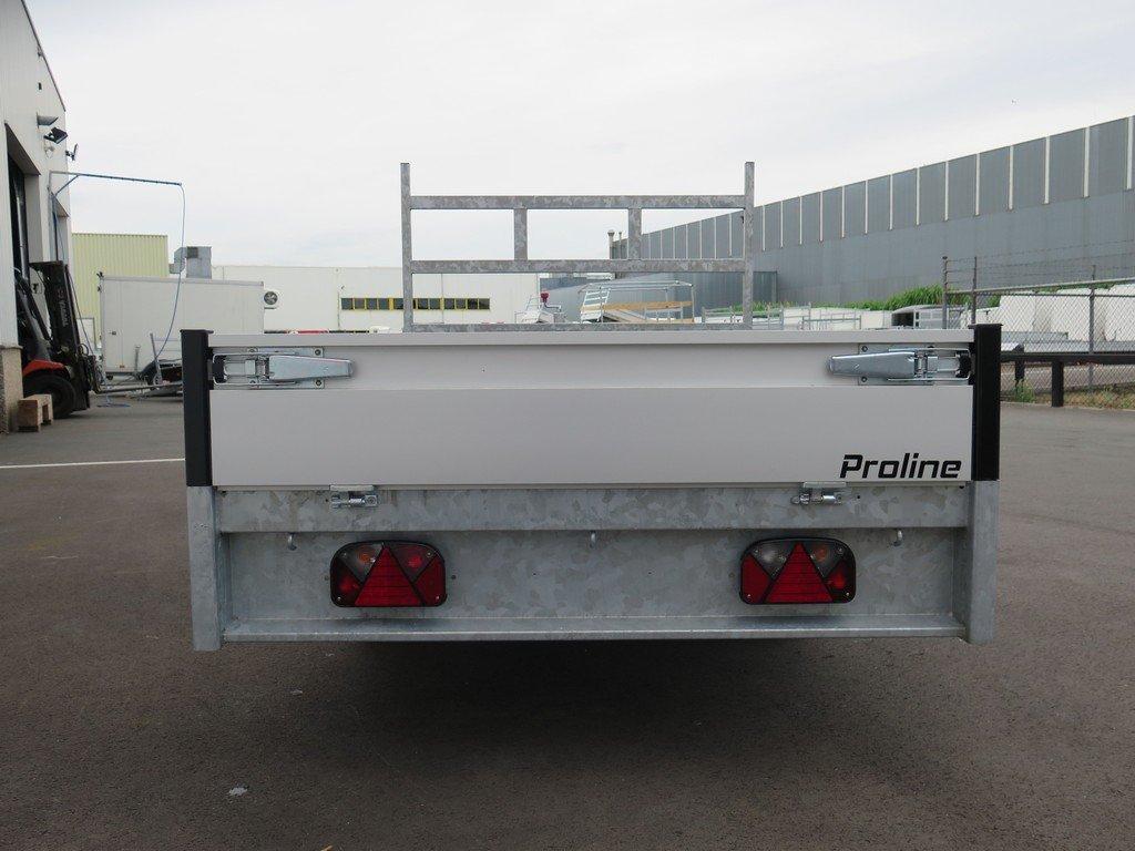 Proline plateauwagen 251x155cm 1350kg Aanhangwagens XXL West Brabant 3.0 achter dicht Aanhangwagens XXL West Brabant