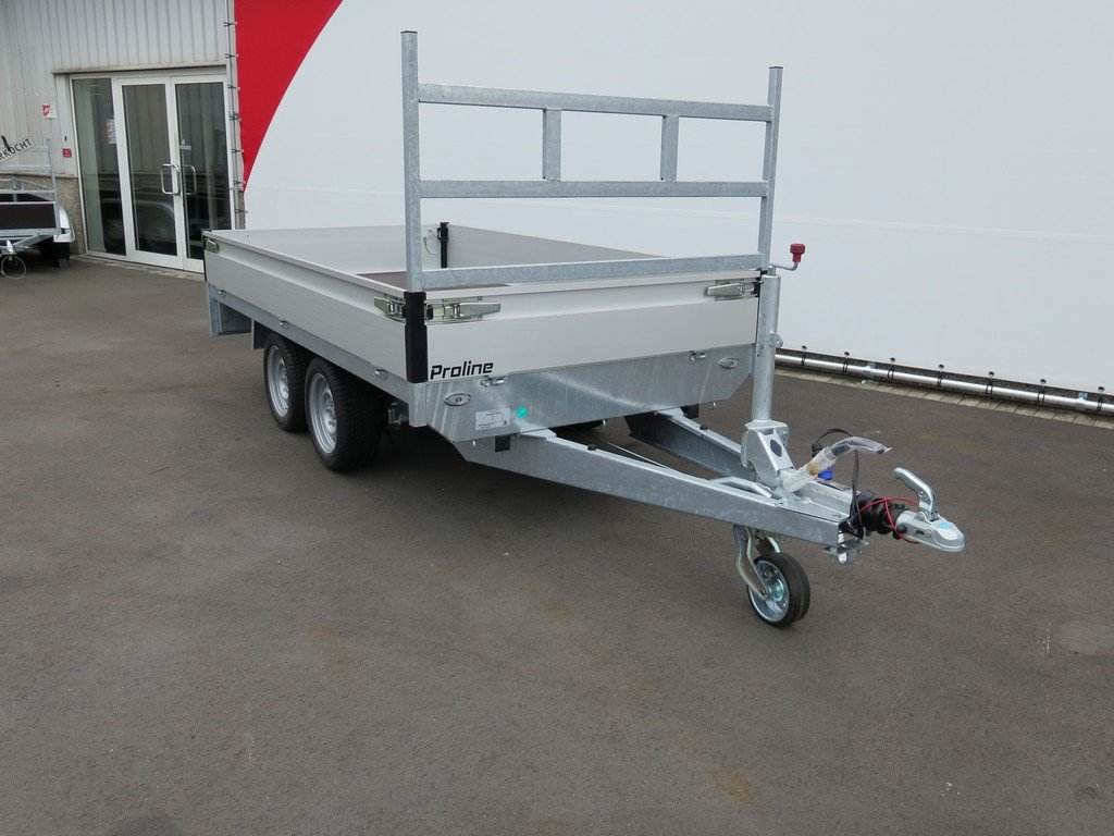 Proline plateauwagen 301x155cm 2000kg Aanhangwagens XXL West Brabant 6.0 schuin voor Aanhangwagens XXL West Brabant