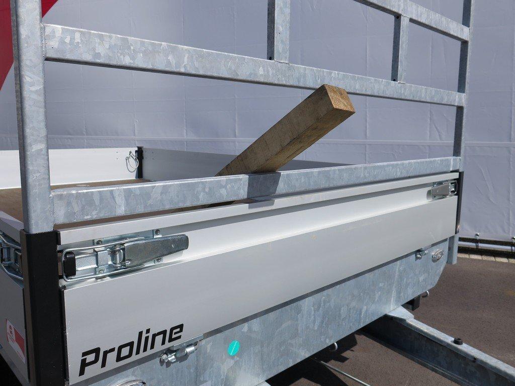 Proline plateauwagen 301x185cm 2700kg verlaagd Aanhangwagens XXL West Brabant 2.0 koprek Aanhangwagens XXL West Brabant