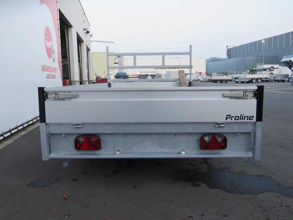 Proline plateauwagen 351x185cm 2700kg verlaagd Aanhangwagens XXL West Brabant 2.0 achterkant Aanhangwagens XXL West Brabant