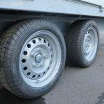 Proline plateauwagen 351x185cm 2700kg verlaagd Aanhangwagens XXL West Brabant 2.0 banden Aanhangwagens XXL West Brabant