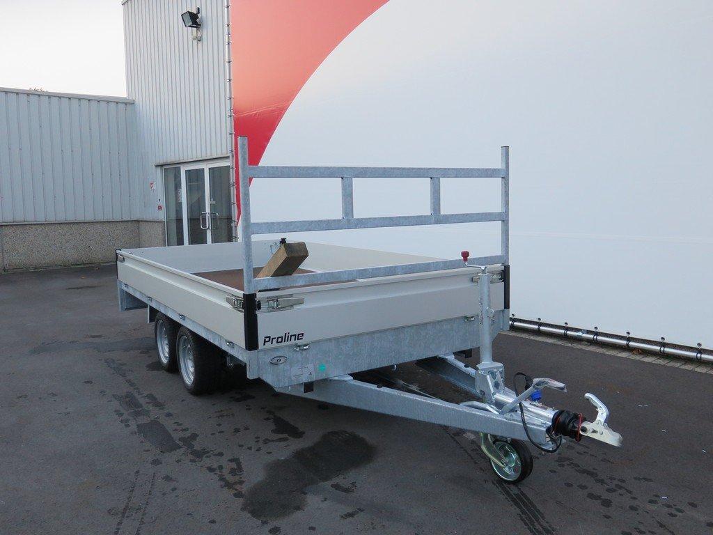Proline plateauwagen 351x185cm 2700kg verlaagd Aanhangwagens XXL West Brabant 2.0 voorkant Aanhangwagens XXL West Brabant