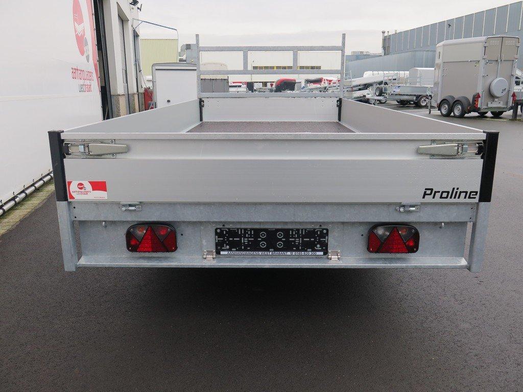 Proline plateauwagen 401x185cm 2700kg verlaagd Aanhangwagens XXL West Brabant 3.0 achterkant Aanhangwagens XXL West Brabant