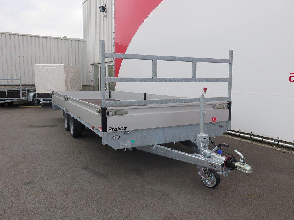 Proline plateauwagen 603x202cm 2700kg verlaagd Aanhangwagens XXL West Brabant 2.0 voorkant Aanhangwagens XXL West Brabant