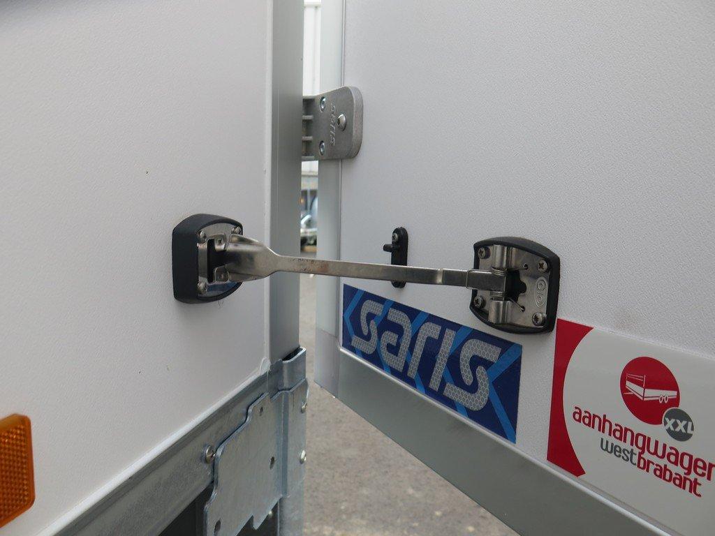 Saris gesloten aanhanger 256x134x150cm 1350kg Aanhangwagens XXL West Brabant 2.0 deurvastzetsysteem Aanhangwagens XXL West Brabant