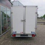 Saris gesloten aanhanger 356x169x180cm 2700kg Aanhangwagens XXL West Brabant 2.0 achterkant dicht Aanhangwagens XXL West Brabant
