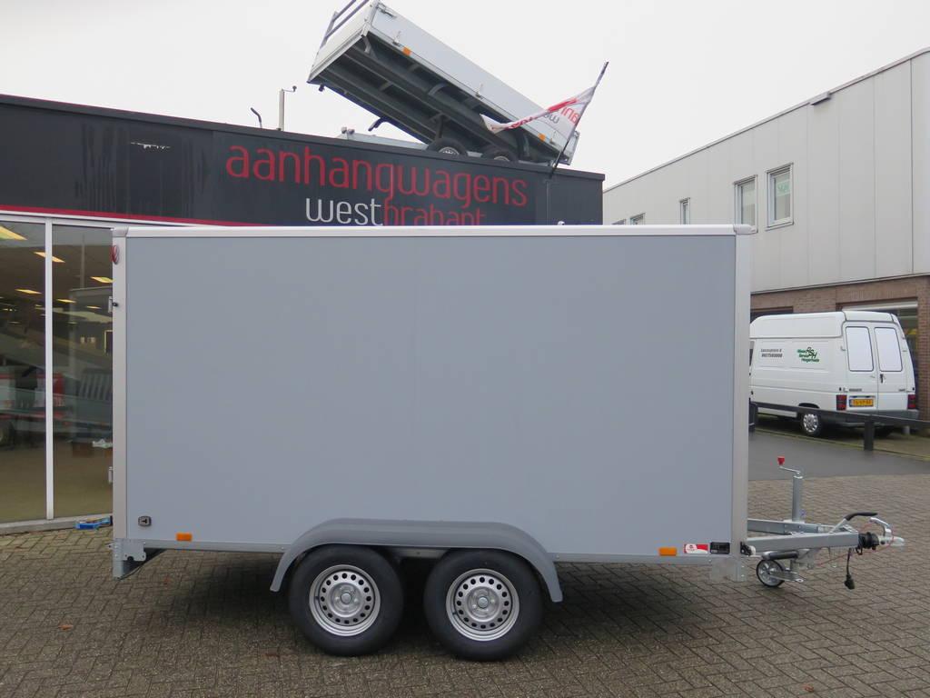 Saris gesloten aanhanger 356x169x180cm 2700kg Aanhangwagens XXL West Brabant 3.0 grijs Aanhangwagens XXL West Brabant