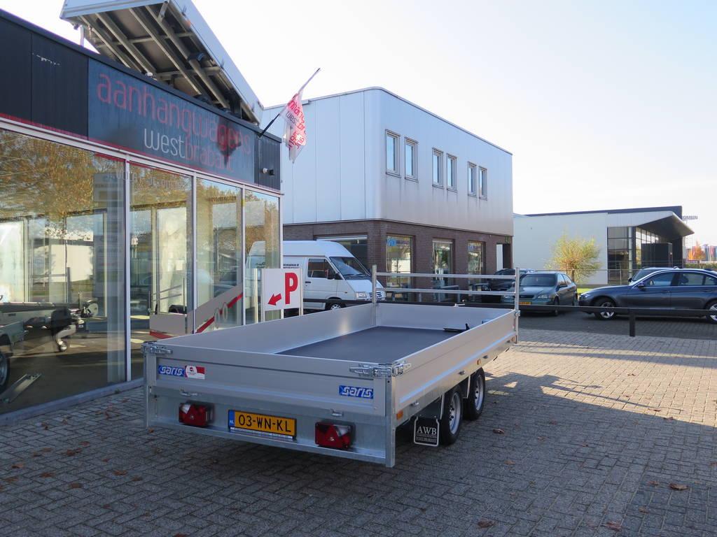 Saris plateau 406x184cm 2000kg plateauwagens Aanhangwagens XXL West Brabant zijkant