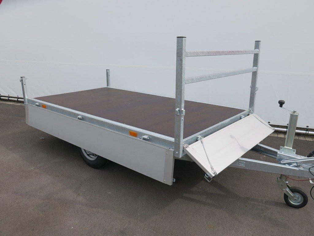 Saris plateauwagen 270x150cm 1350kg Aanhangwagens XXL West Brabant 3.0 volledig vlak Aanhangwagens XXL West Brabant