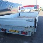 Verhuur 17A. 2700kg Proline elektrische kipper 300x184cm Aanhangwagens XXL West Brabant achterkant Aanhangwagens XXL West Brabant