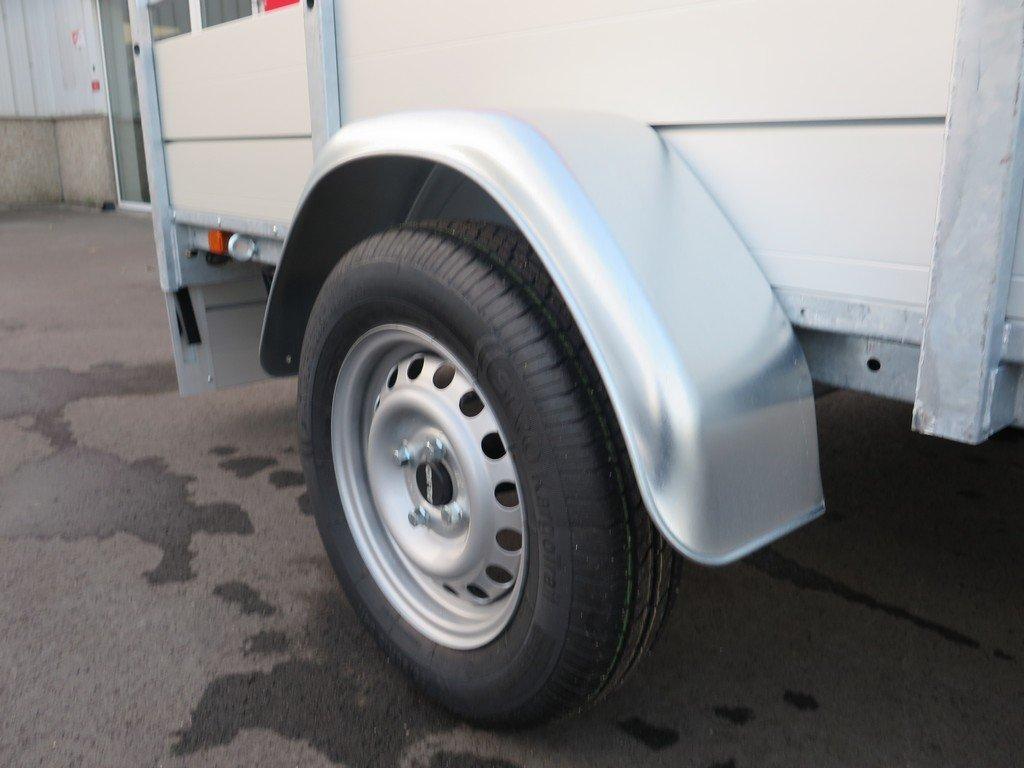 Anssems enkelas aanhanger 251x130cm 750kg alu Aanhangwagens XXL West Brabant 3.0 spatbord Aanhangwagens XXL West Brabant