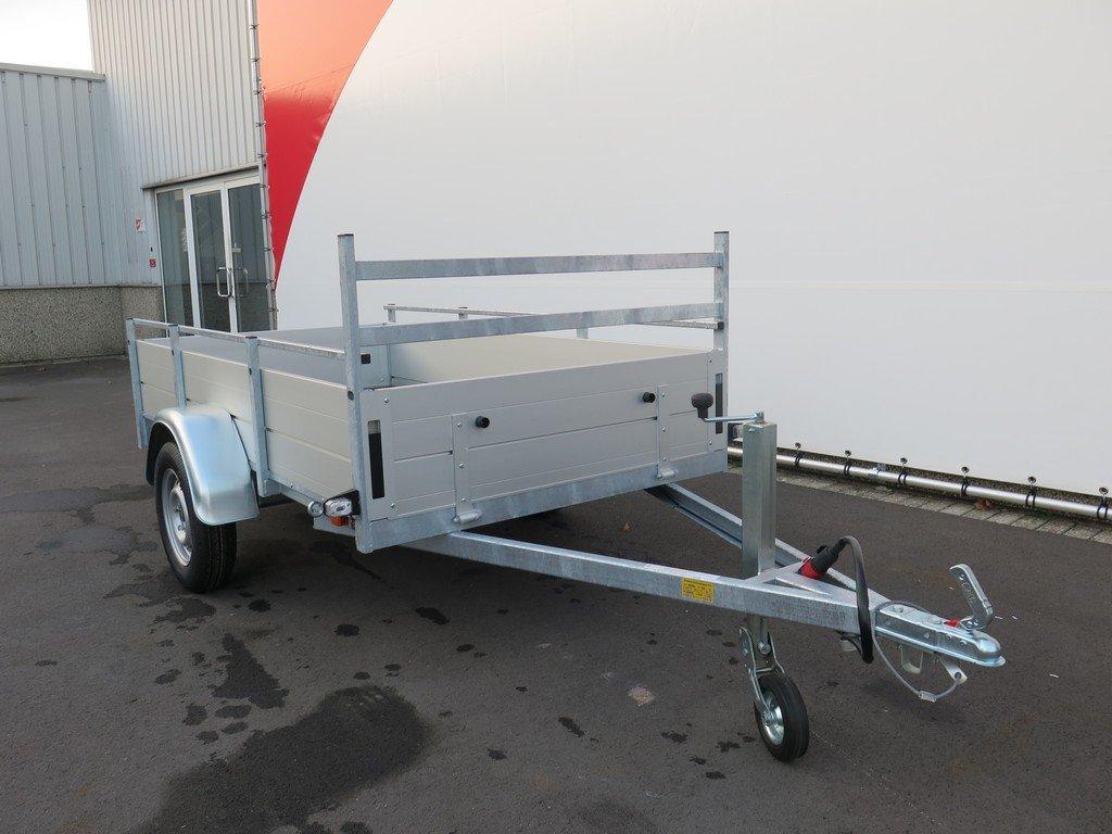 Anssems enkelas aanhanger 251x130cm 750kg alu Aanhangwagens XXL West Brabant 3.0 voorkant Aanhangwagens XXL West Brabant