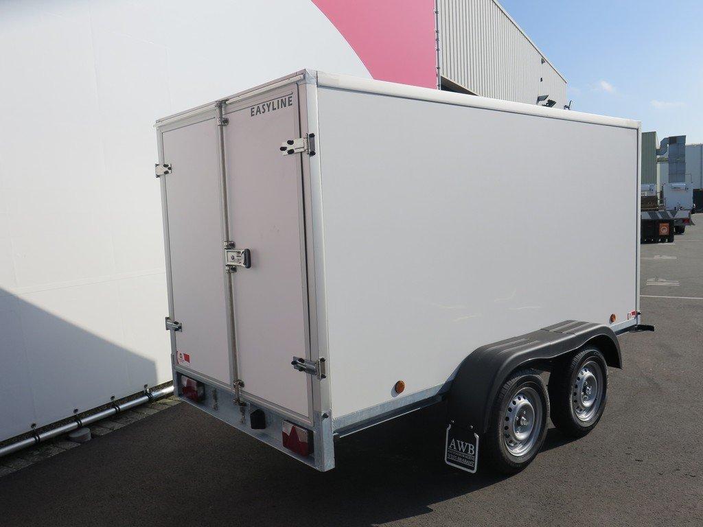 Easyline gesloten aanhanger 300x147x150cm 1600kg Easyline gesloten aanhanger 300x150x150cm 1500kg Aanhangwagens XXL West Brabant 2.0 achter dicht