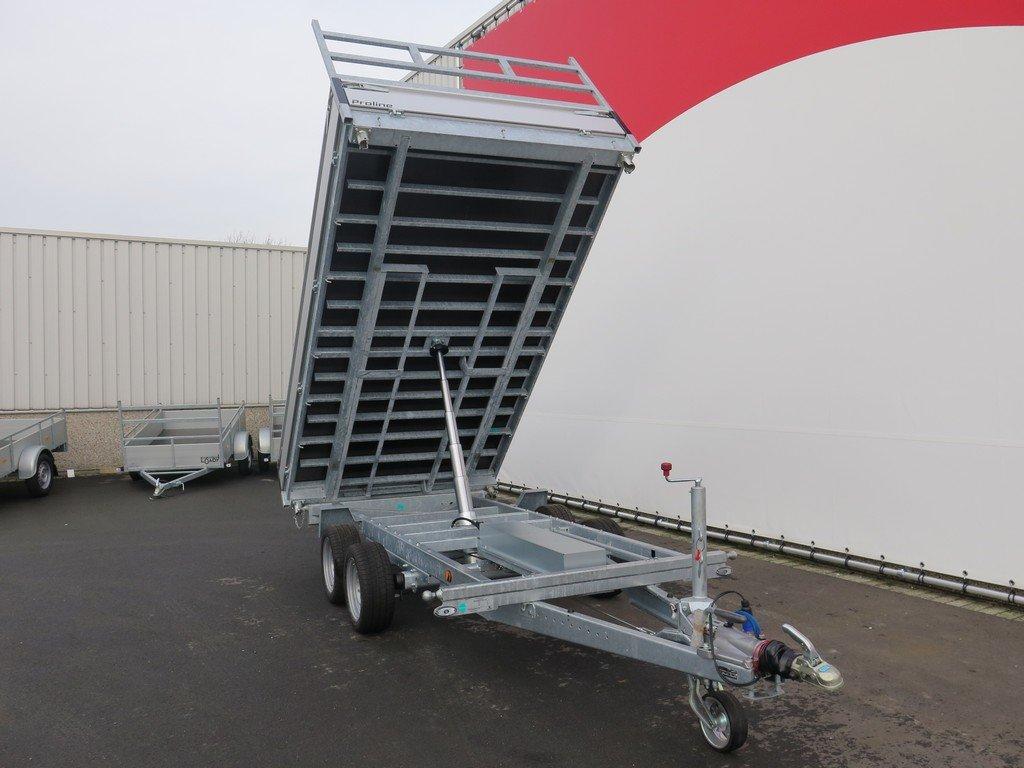 Proline kipper 351x185cm 2700kg Aanhangwagens XXL West Brabant 3.0 voorkant Aanhangwagens XXL West Brabant
