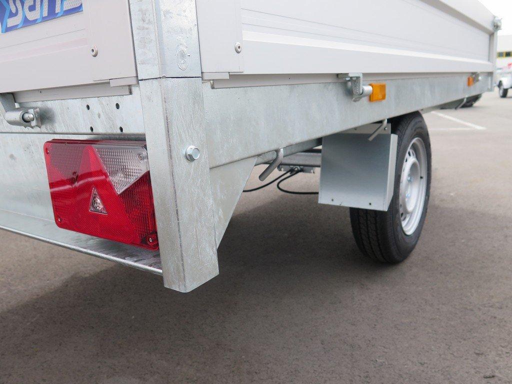 Saris plateauwagen 255x135cm 1400kg Aanhangwagens XXL West Brabant 3.0 touwhaken rondom Aanhangwagens XXL West Brabant