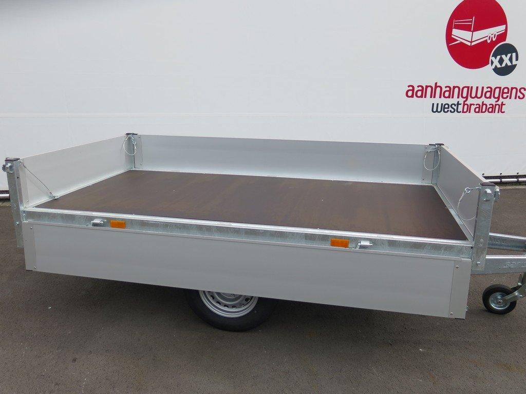 Saris plateauwagen 255x135cm 1400kg Aanhangwagens XXL West Brabant 3.0 zijkant open Aanhangwagens XXL West Brabant