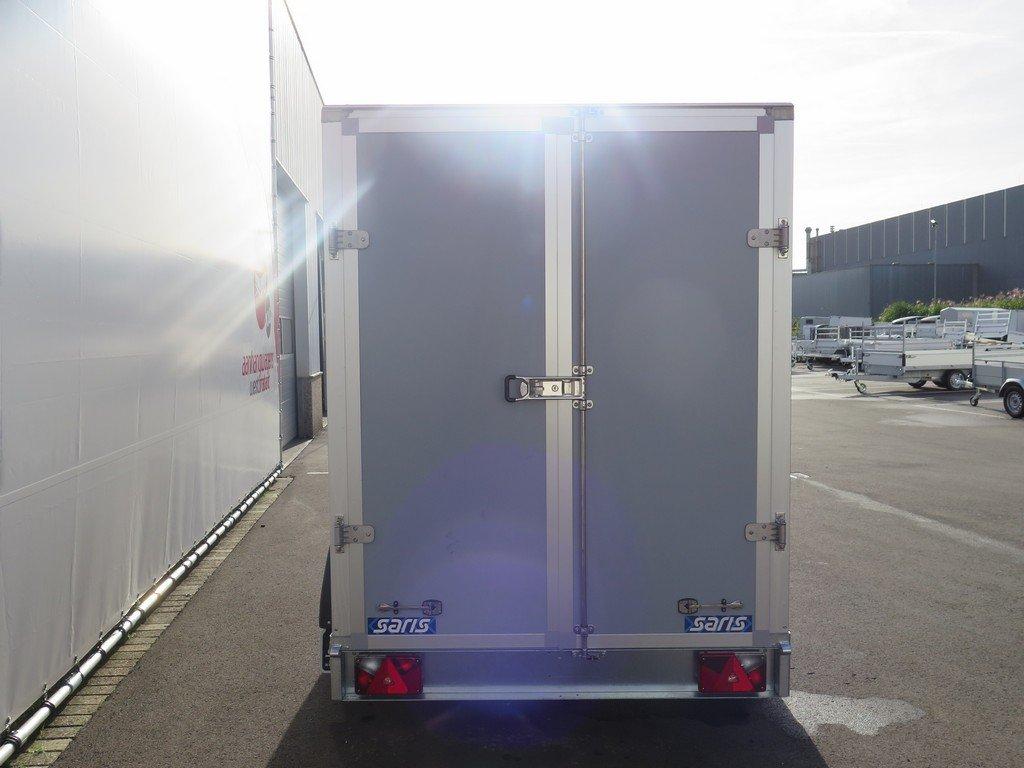 Saris gesloten aanhanger 306x154x180cm 2000kg grijs Aanhangwagens XXL West Brabant 2.0 achter dicht Aanhangwagens XXL West Brabant