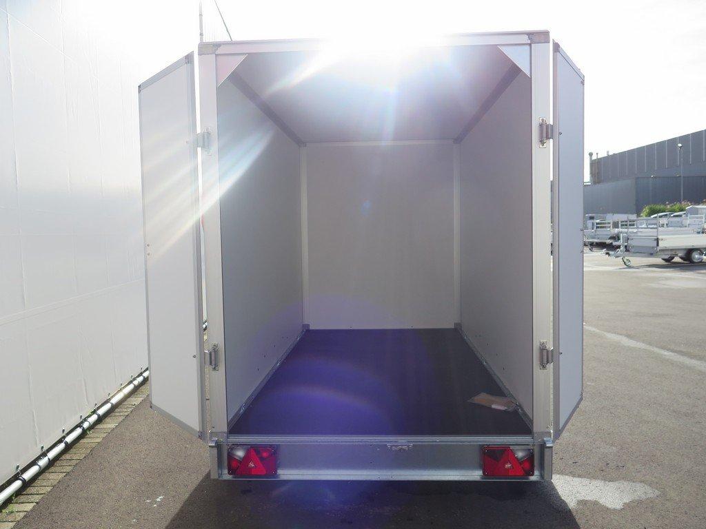 Saris gesloten aanhanger 306x154x180cm 2000kg grijs Aanhangwagens XXL West Brabant 2.0 achter open Aanhangwagens XXL West Brabant
