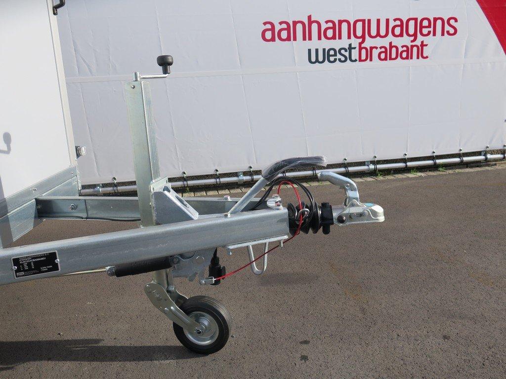 Saris gesloten aanhanger 306x154x180cm 2000kg grijs Aanhangwagens XXL West Brabant 2.0 dissel Aanhangwagens XXL West Brabant