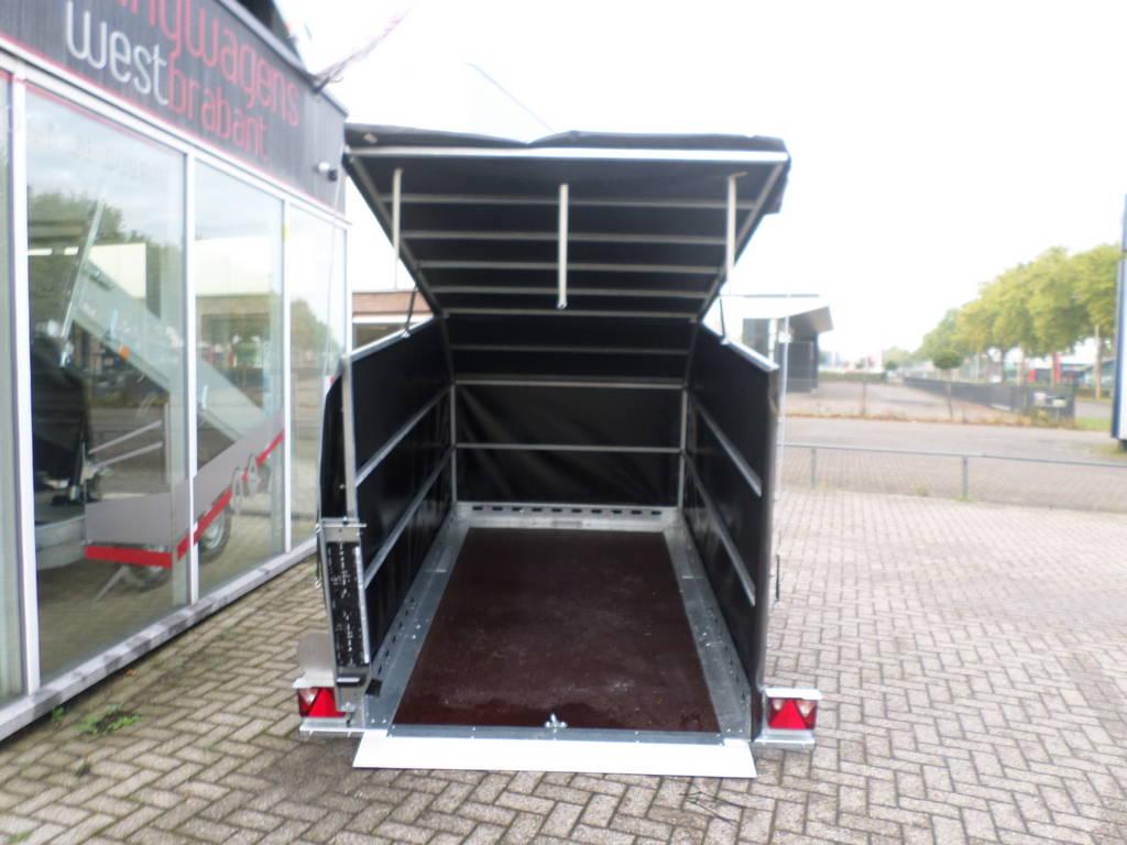 Proline zakbaar met huif 260x155x170cm 1400kg motortrailer Aanhangwagens XXL West Brabant achterkant Aanhangwagens XXL West Brabant