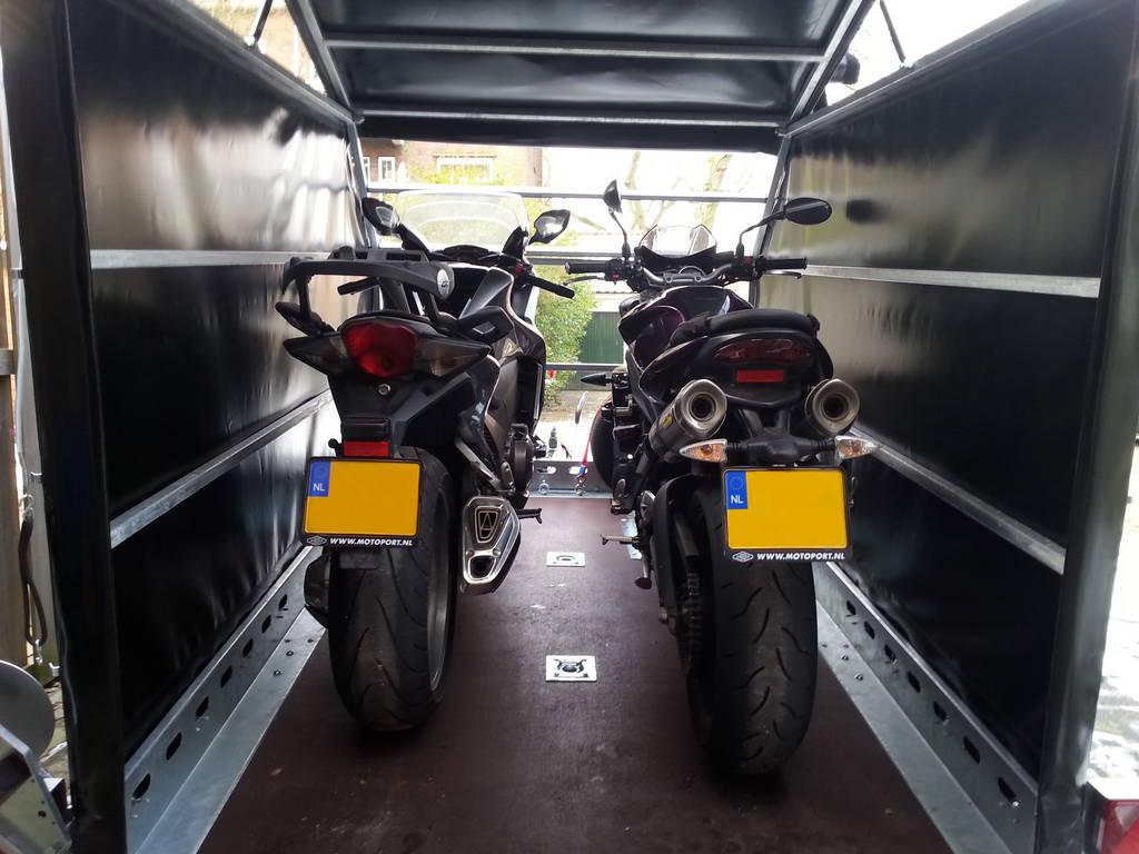 Proline zakbaar met huif 260x155x170cm 1400kg motortrailer Aanhangwagens XXL West Brabant motors Aanhangwagens XXL West Brabant