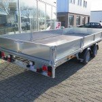 Ifor Williams plateau 547x225cm 3500kg 2-as Aanhangwagens XXL West Brabant achterkant Aanhangwagens XXL West Brabant