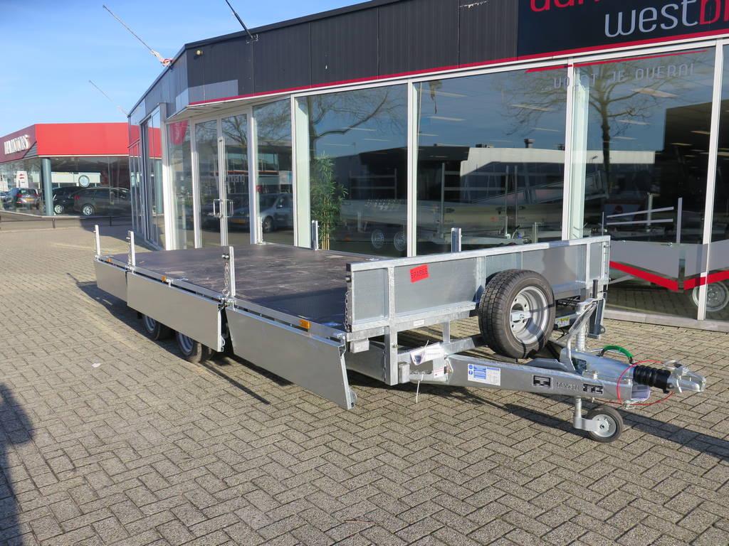 Ifor Williams plateau 547x225cm 3500kg 2-as Aanhangwagens XXL West Brabant overzicht Aanhangwagens XXL West Brabant
